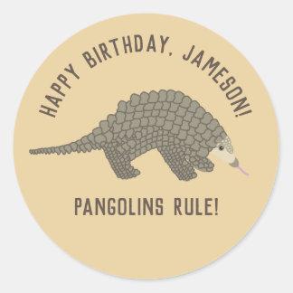 Pangolins Personalized Stickers