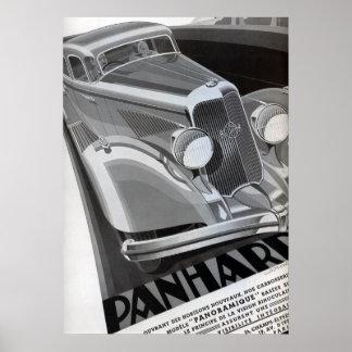 Panhard Vintage Car Poster