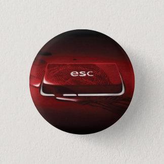 Panic Button Blood-Smear-ESC-Key Badge