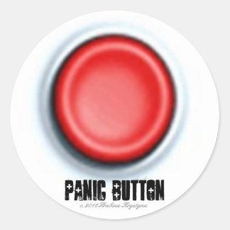 PANIC BUTTON CLASSIC ROUND STICKER