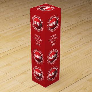 Panic Button custom wine gift box