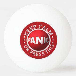 Panic Button ping pong balls