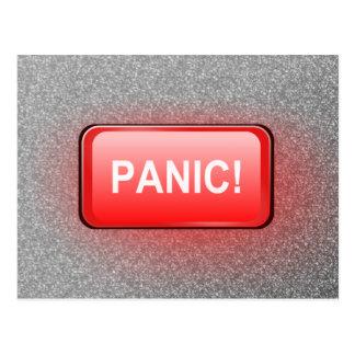 Panic button. postcard