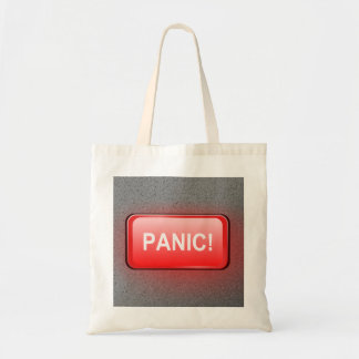 Panic button. tote bag