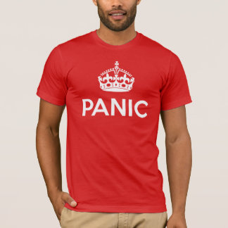 PANIC: Keep Calm and Carry On Spoof (Dark Colors) T-Shirt