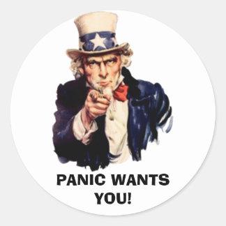 Panic Sam Sticker