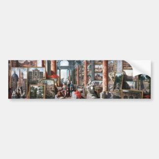 Pannini - Gallery of Views of Modern Rome Bumper Sticker