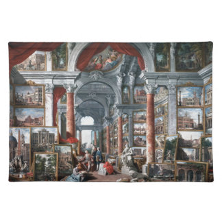 Pannini - Gallery of Views of Modern Rome Place Mats
