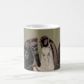 Panoply - Ancient Greek chariot horses Coffee Mug