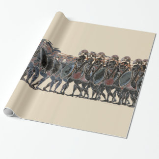 Panoply - Ancient Greek hoplite battle large Wrapping Paper
