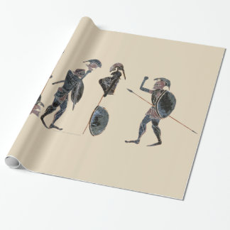 Panoply - Ancient Greek hoplites celebrating large Wrapping Paper