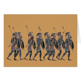 Panoply- Ancient Greek hoplites on the move Card