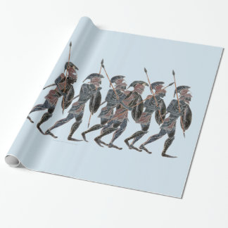 Panoply- Ancient Greek hoplites on the move Wrapping Paper