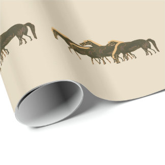 Panoply - Ancient Greek vase art herd of horses Wrapping Paper