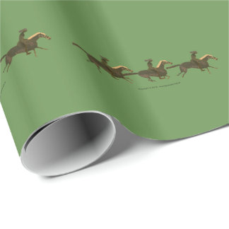 Panoply - Ancient Greek vase art horses & riders Wrapping Paper