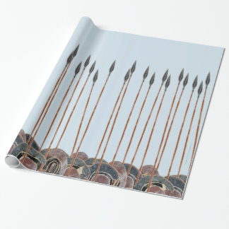 Panoply - Field of Greek hoplite spears large Wrapping Paper