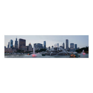 Panorama Chicago Blackhawks Win Poster