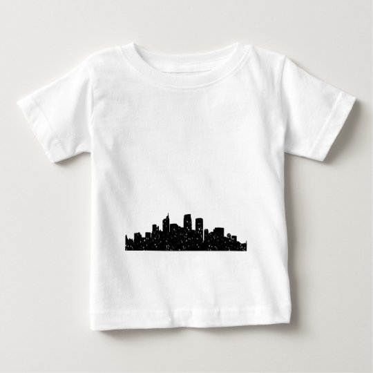 Panorama city in snow baby T-Shirt