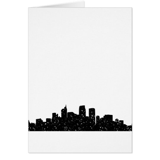 Panorama city in snow card