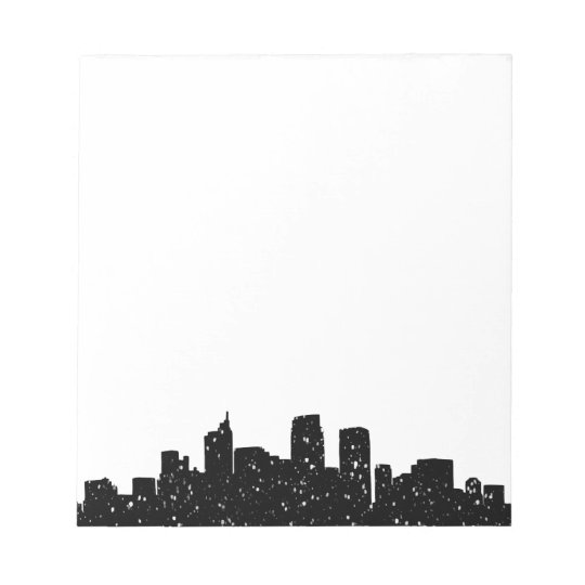 Panorama city in snow notepad