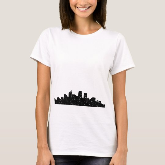 Panorama city in snow T-Shirt