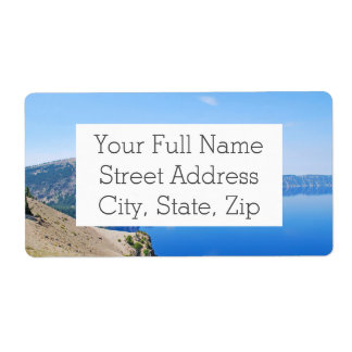 Panorama Crater Lake Shipping Label
