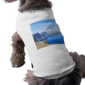 Panorama Crater Lake Sleeveless Dog Shirt