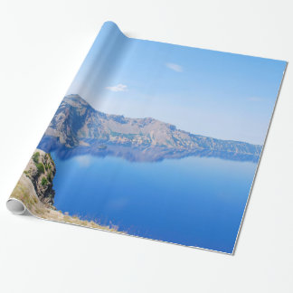 Panorama Crater Lake Wrapping Paper