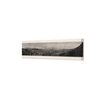 Panorama from Twin Peaks Stretched Canvas Print