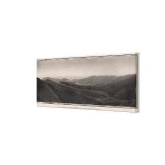 Panorama from Twin Peaks west to the sea Gallery Wrap Canvas