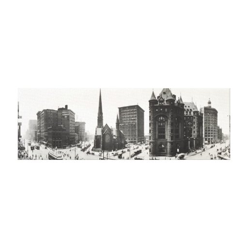 Panorama of Buffalo, New York from 1911. Canvas Prints