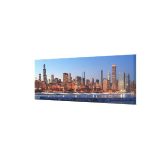 Panorama of Chicago, Illinois across Lake Canvas Print