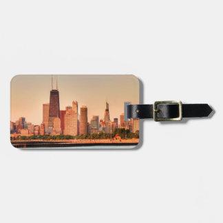 Panorama of Chicago skyline at sunrise Luggage Tag