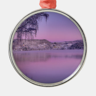 Panorama of Lake Bled Julian Alps Slovenia Metal Ornament
