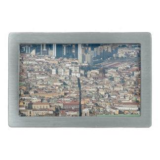 Panorama of Naples Rectangular Belt Buckle