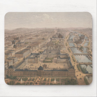 Panorama of Paris the Seine River and Louvre Mouse Pad
