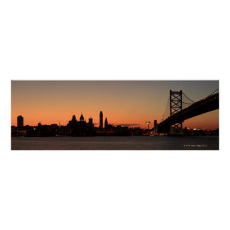 Panorama of Philadelphia, Pennsylvania Poster