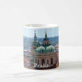 Panorama of Prague and the church of St. Nicholas Coffee Mug