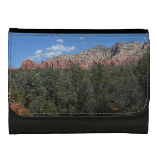 Panorama of Red Rocks in Sedona Arizona Leather Wallet
