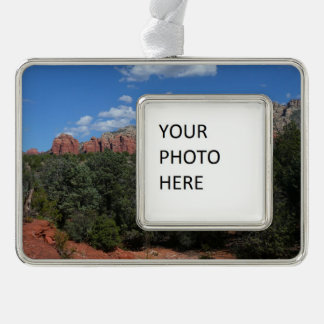 Panorama of Red Rocks in Sedona Arizona Silver Plated Framed Ornament