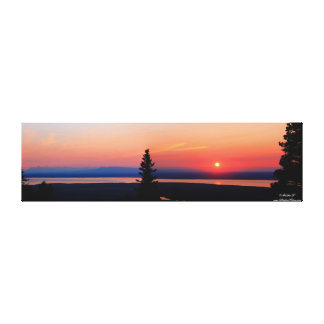 Panorama of Sunset over Eagle River, Alaska Cavas Canvas Print