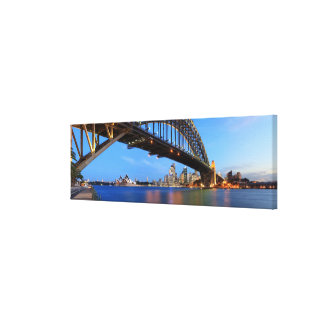 Panorama of Sydney Harbour Bridge, Sydney Opera Canvas Print