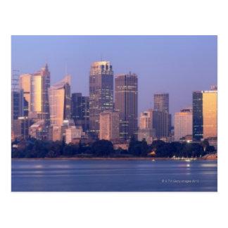 Panorama of Sydney Skyline at Sunset, Australia Postcard