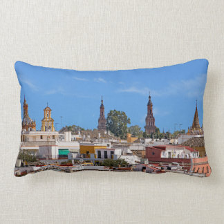 Panorama of the city of Seville Lumbar Cushion