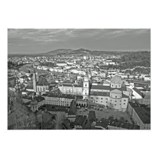 Panorama of the historic part of Salzburg. Photo Print