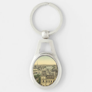 Panorama of the Seven Bridges, Paris, France Key Ring