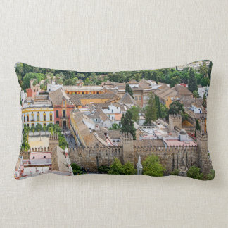 Panorama of the Seville Alcázar Lumbar Cushion