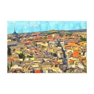 Panorama of Toledo. Canvas Print