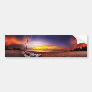 Panorama of tropical beach bumper sticker