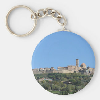 Panorama of Volterra village, province of Pisa Key Ring